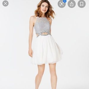 Speechless A line white cocktail dress size 1